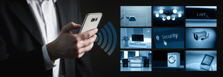 Smart Home IoT devices connected with Wi-Fi